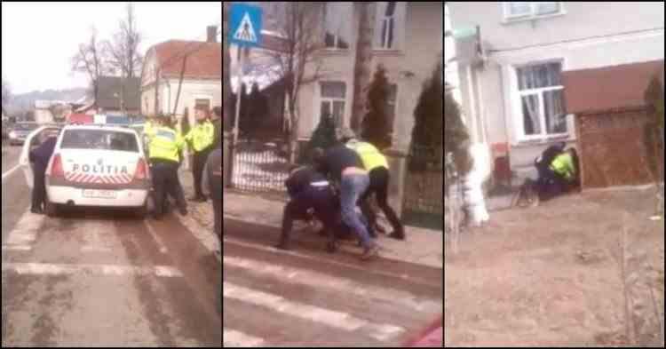 Poliţist luat la pumni în curtea unui liceu din Suceava. Tată şi fiu încătuşaţi de agenţi