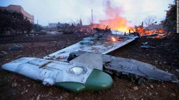 Un avion de luptă al regimului sirian a fost doborât de armata turcă în provincia Idleb