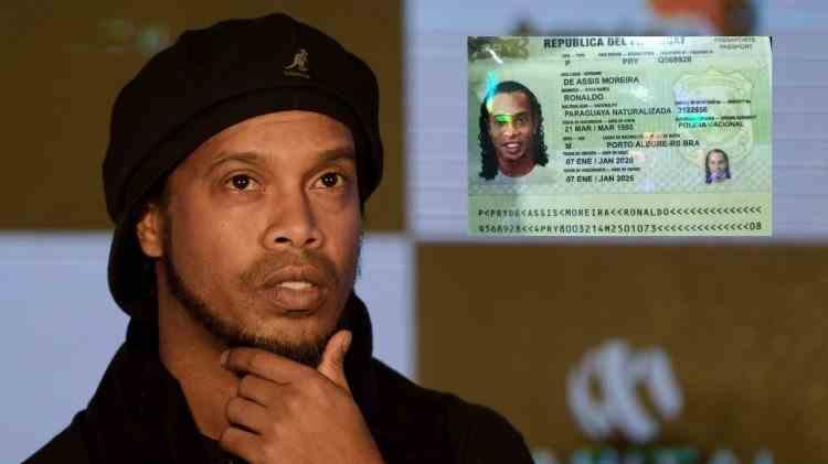 Ronaldinho prins cu un paşaport fals în Paraguay