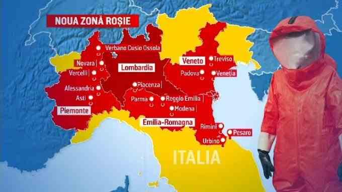În Italia, un sfert din populație a intrat în carantină