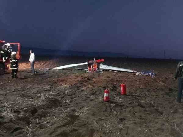 Un avion s-a prăbuşit în zona localităţii Şiria din Arad