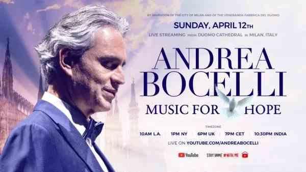 Andrea Bocelli va susține de Paște un concert fără public în Domul din Milano