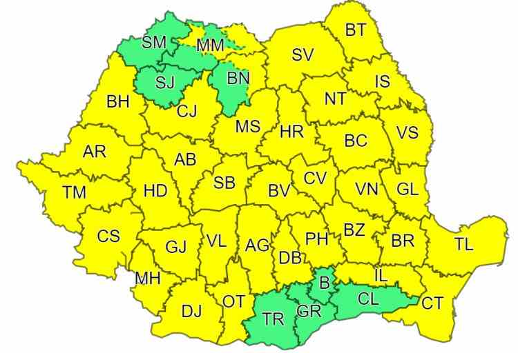ATENȚIONARE METEOROLOGICĂ: Cod galben de vânt puternic și ninsori (14.04.2020)
