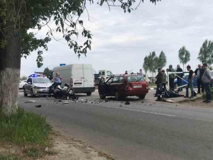 Un polițist a fost rănit într-un accident la Constanța