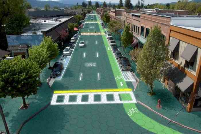 Drumuri cu baterii solare, care luminează noaptea și se curăță singure de zăpadă