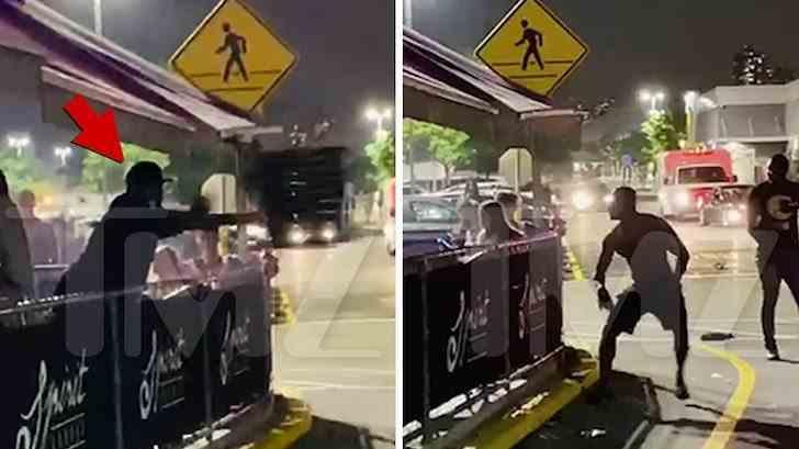 50 CENT a aruncat cu un scaun într-un trecător după ce a făcut o criză de nervi pe stradă