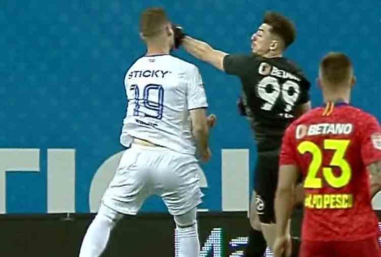 Elvir Koljic a fost lovit cu pumnul în față de portarul FCSB