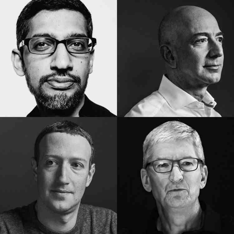 Amazon, Apple, Facebook şi Google vor fi audiaţi miercuri pentru încălcarea legii antitrust