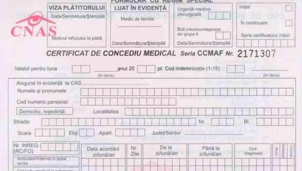 Anunţul CNAS: Cum se acordă concediul medical pentru carantină şi izolare