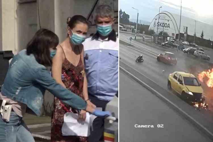 Femeia care a lovit intenționat un polițist aflat pe motocicletă rămâne în arest