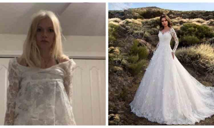 Ce a primit în colet o tânără care și-a comandat rochia de mireasă de pe internet