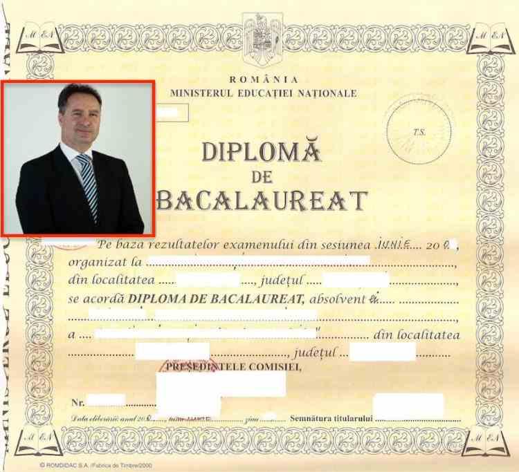 Fabrica de diplome false din Teleorman - Diploma de bacalaureat a șefului Combaterii Spălării Banilor a fost falsificată de fostul rector Dobronăuțeanu