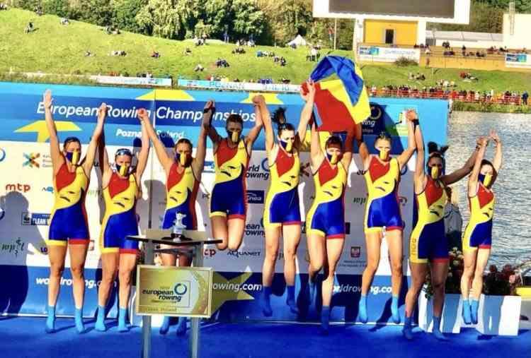 România a obținut patru medalii de aur la Campionatele Europene de canotaj din Polonia