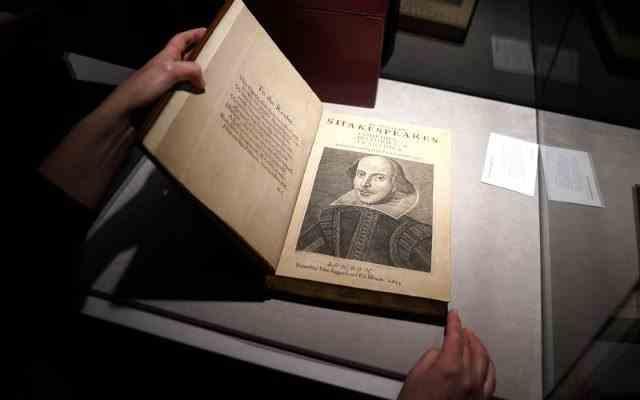 10 milioane de dolari pentru o culegere de piese de William Shakespeare