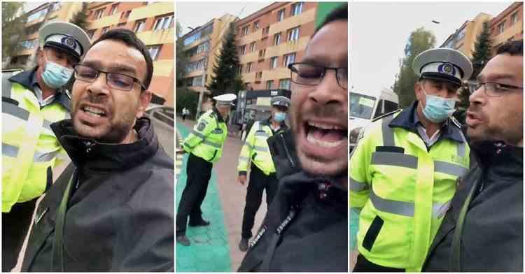 Un fost candidat la primărie a făcut circ după ce polițiștii locali l-au avertizat cu privire la purtarea măștii de protecție