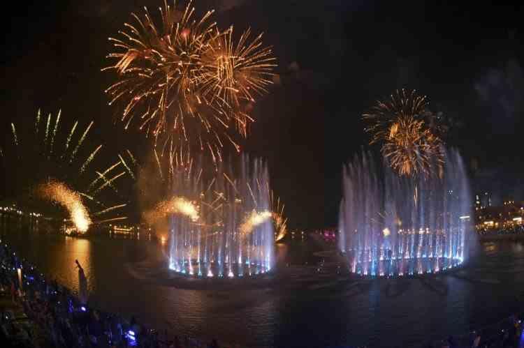 Fântână de Cartea Recordurilor în Dubai