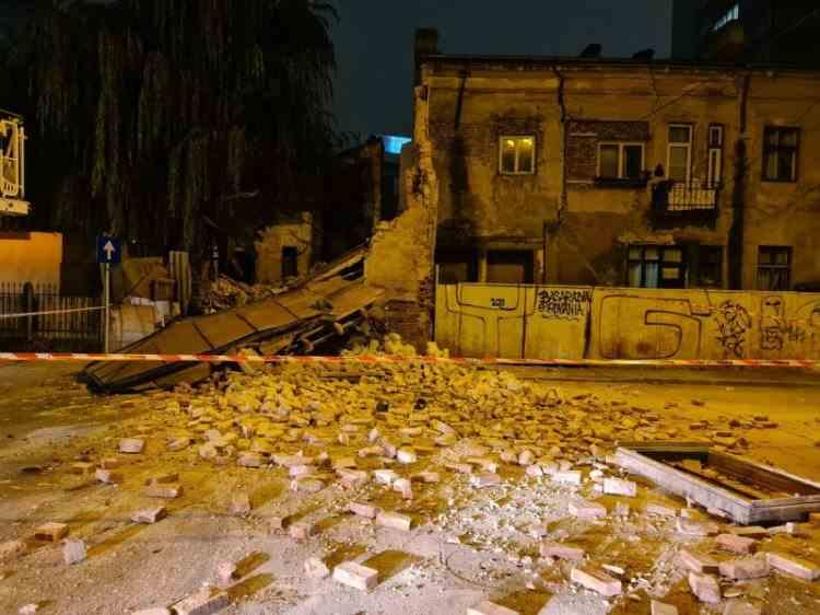 O clădire-monument s-a prăbușit în centrul Capitalei