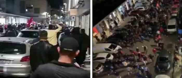 Sute de turci au ieșit în stradă într-un oraș din Franța pentru a-i amenința pe armeni