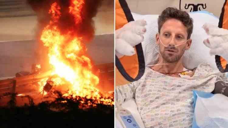 Cum arată mâinile pilotului Romain Grosjean la aproape două luni de la accidentul din Bahrain