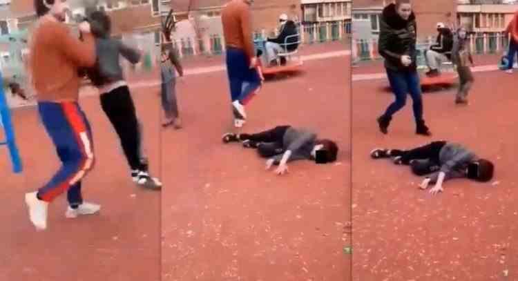 Un copil din Hunedoara a rămas inconștient după ce a fost trântit la pământ de tatăl altui copil, într-un parc de joacă
