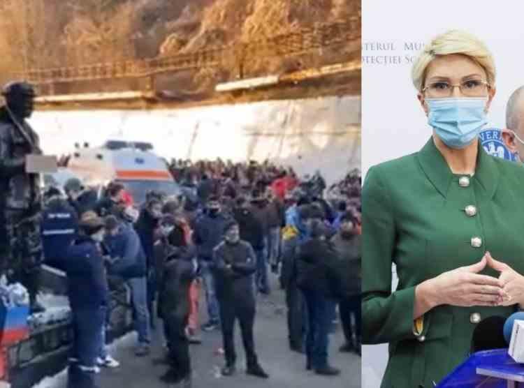 Minerii opresc protestele după ce ministrul Muncii le-a promis plata drepturilor salariale restante