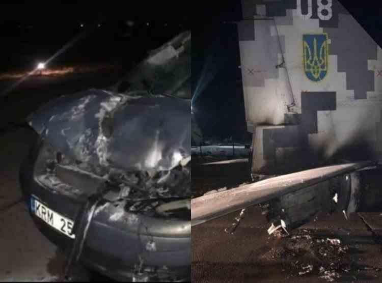 Un militar ucrainian beat a distrus cu mașina un avion MiG-29