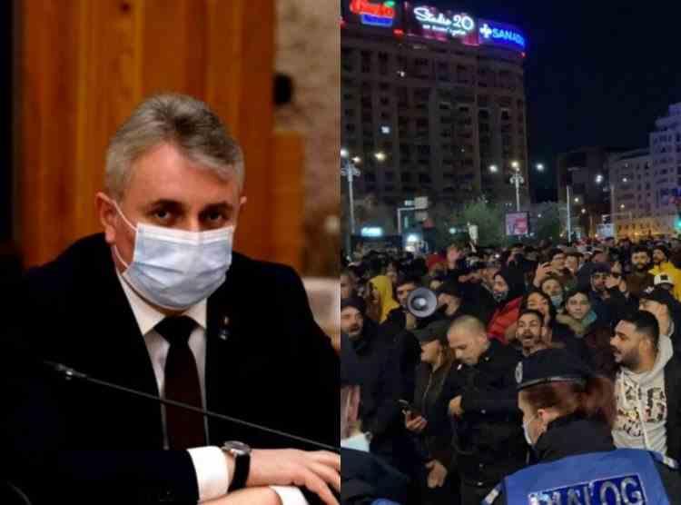 Ministrul de Interne: Din datele pe care le avem noi în acest moment au fost 24 de proteste în 24 de locaţii cu 4075 de participanţi