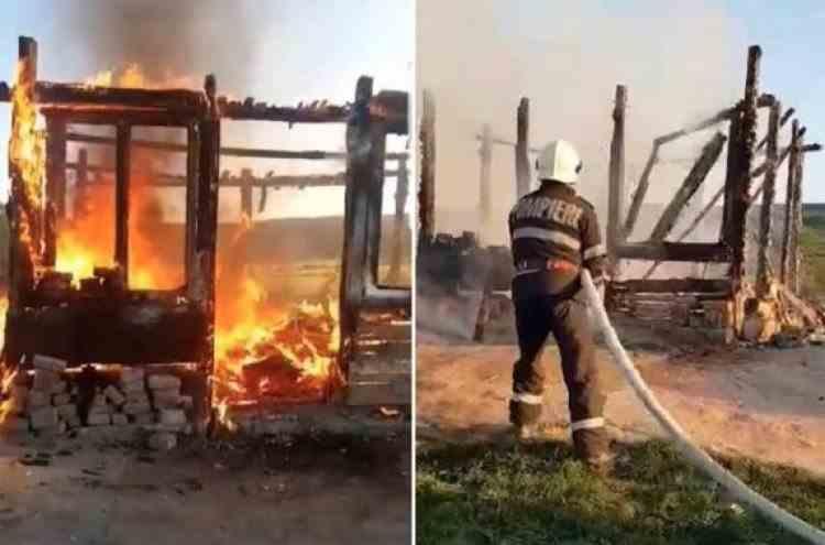 Un bărbat din Mureș, mort de cancer, a ars cu tot cu sicriu sub ochii celor patru copii