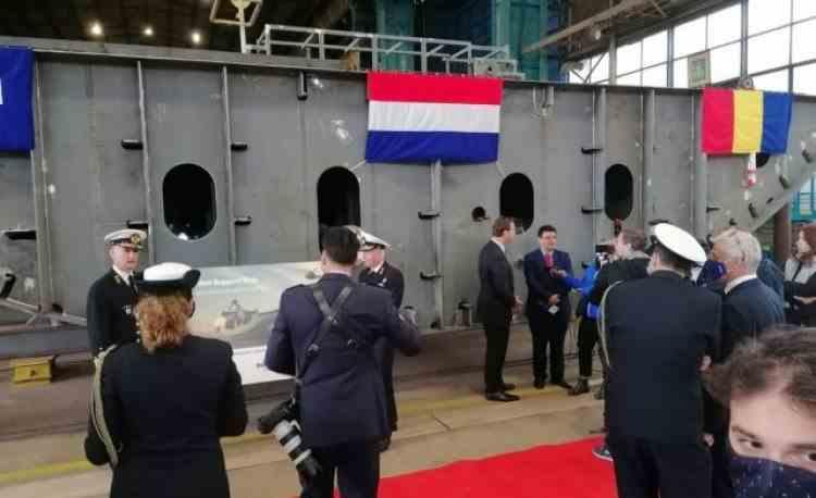 A doua cea mai mare navă militară construită în România este în lucru la Galați, pentru Marina Regală a Ţărilor de Jos