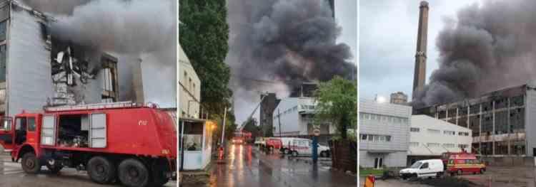 Incendiul de la incineratorul de deșeuri periculoase din Prahova nu a fost încă stins - Intervenția pompierilor continuă peste noapte