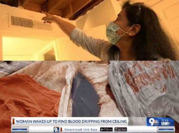 O femeie din Texas s-a trezit în sângele vecinului său, care picura din tavan