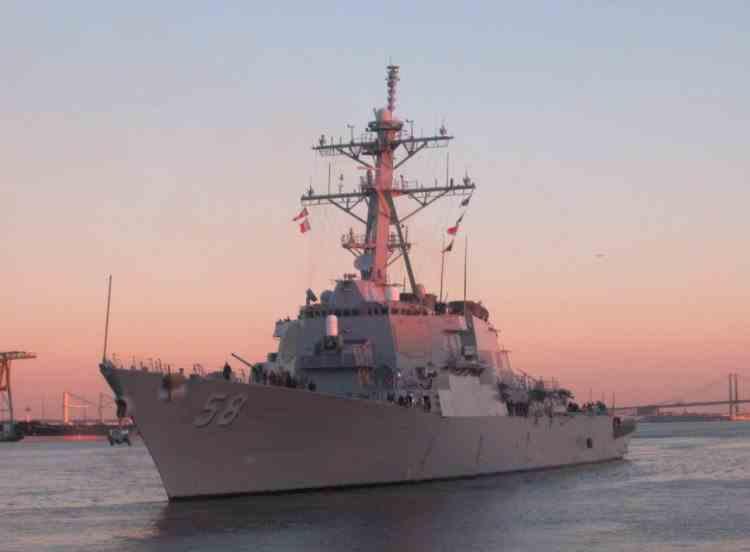 Distrugătorul USS Laboon, cu focoase nucleare, se îndreaptă spre Marea Neagră, în sprijinul aliaților NATO