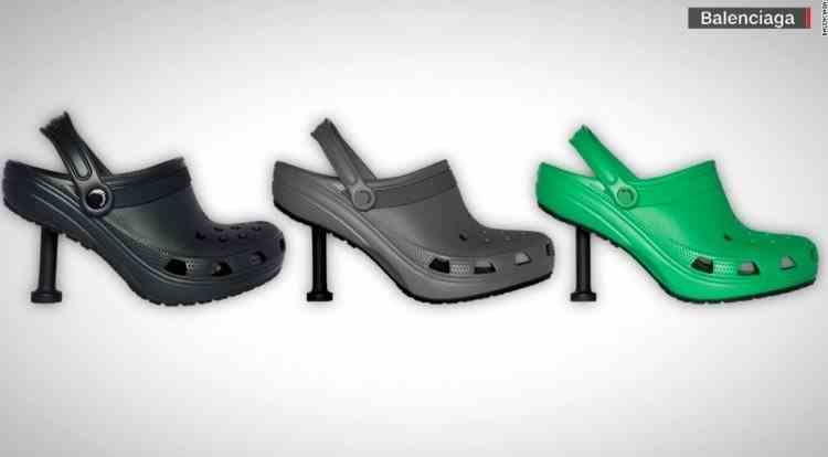 Balenciaga a creat o pereche de crocși cu toc - Ce preț are perechea de pantofi de lux