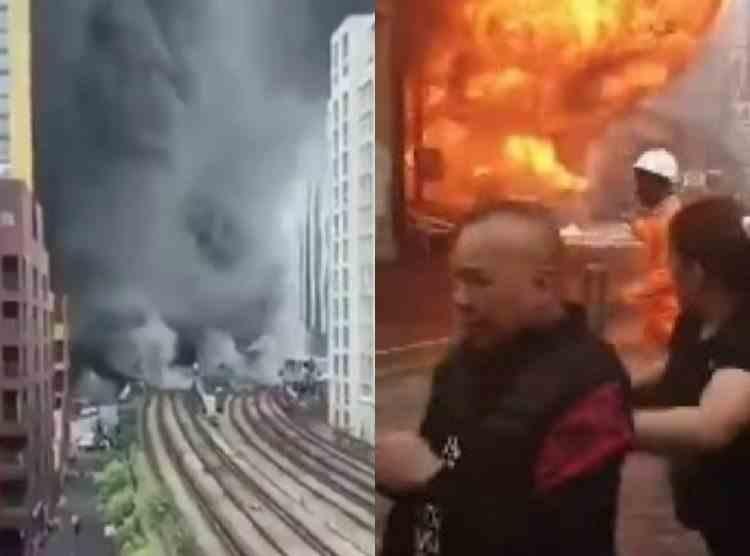 VIDEO - Explozie uriașă, urmată de incendiu, la Londra