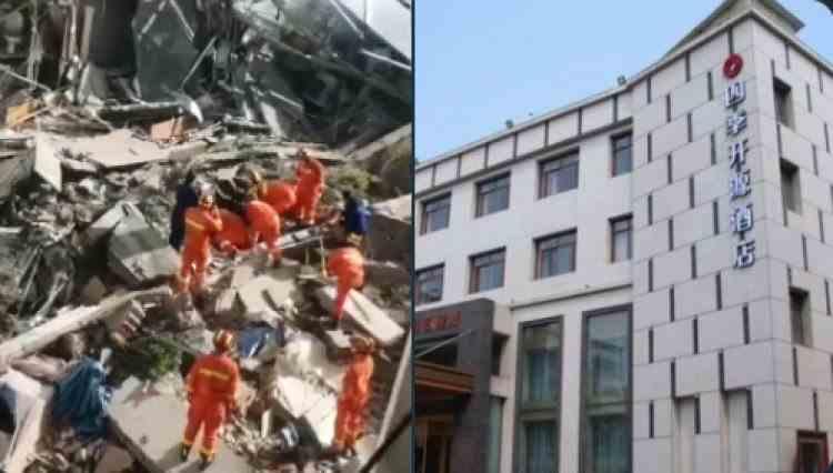 VIDEO: Cel puțin o persoană a murit după ce un hotel s-a prăbușit în China