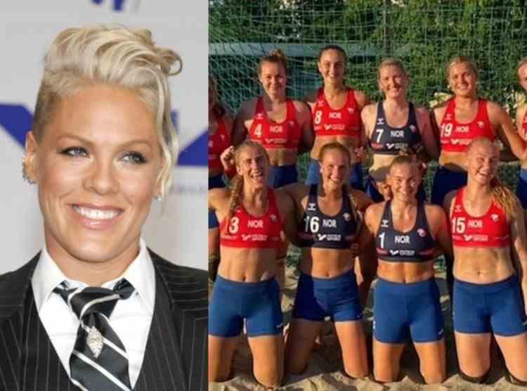 Pink s-a oferit să plătească amenda primită de echipa norvegiană feminină de handbal pe plajă, după ce jucătoarele au refuzat să joace în bikini